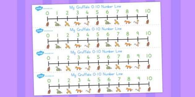 The Gruffalo Number Line 0-10 - australia, gruffalo, number line