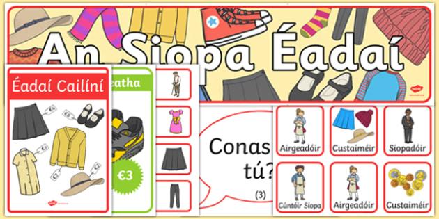 Clothes Display Pack Gaeilge