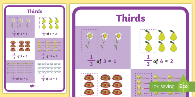 Third of a Quantity Display Poster KS1 Year 2 - quantity, display poster