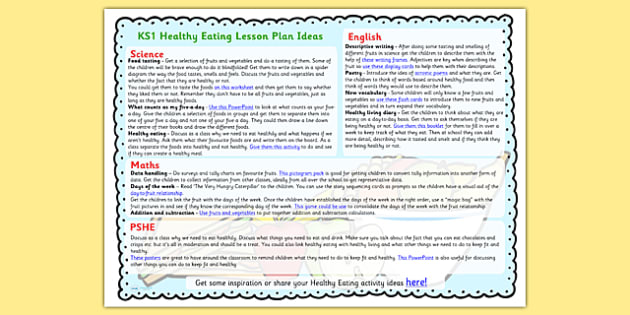 Healthy Eating Lesson Plan Ideas KS1 - healthy eating, lesson plan, lesson plan idea, lesson ideas, lesson planning, teaching plan, KS1 lesson plans, KS1