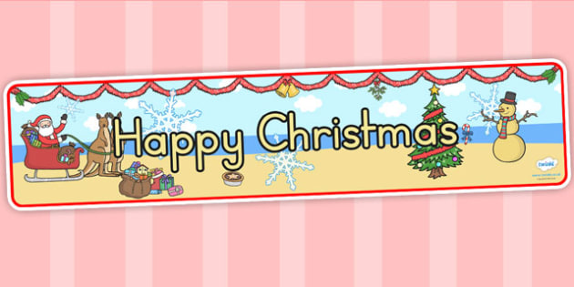 Australia Happy Christmas Display Banner - christmas, banner, display, xmas