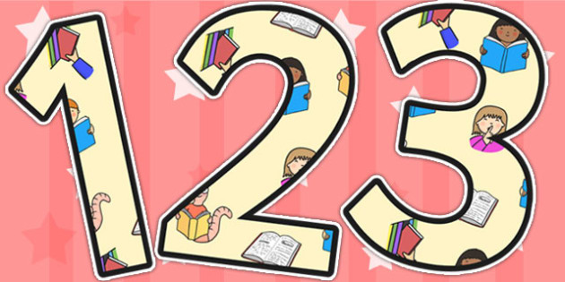 Library Area Themed Display Numbers - library, numbers, areas