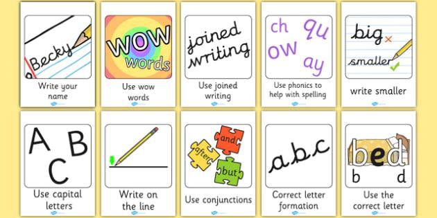 Writing Target Large Cards - writing, target, large, cards, write