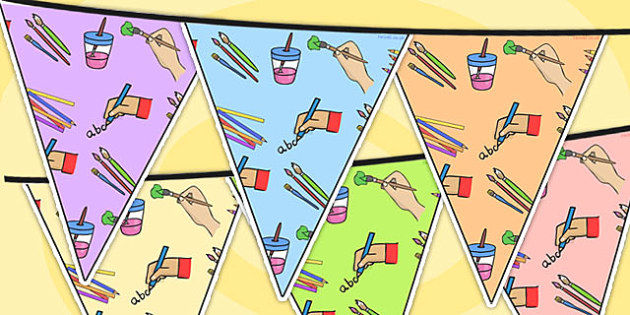 Mark Making Area Themed Bunting - classroom areas, display, areas