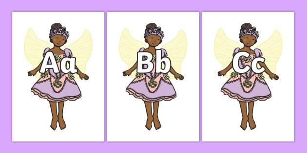 A-Z Alphabet on Fairies - Fairies, Fairy, topic, fantasy, Alphabet frieze, Display letters, Letter posters, A-Z letters, Alphabet flashcards,
