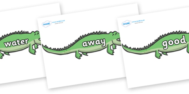 Next 200 Common Words on Crocodiles - Next 200 Common Words on  - DfES Letters and Sounds, Letters and Sounds, Letters and sounds words, Common words, 200 common words
