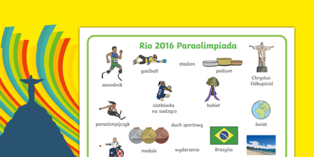 Mata ze słownictwem Paraolimpiada 2016 po polsku