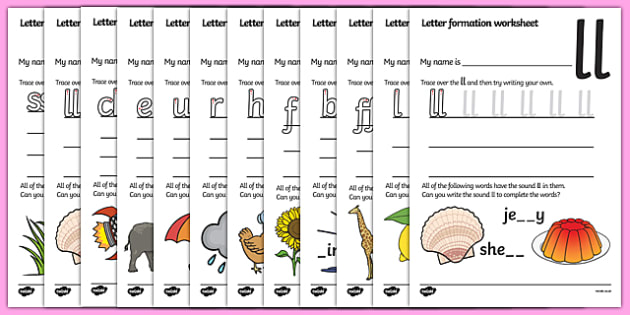 Letter Formation Worksheets (Phase 2) - Handwriting, letter formation, writing practice, Phase 2, Phase two, foundation, letters, writing, learning to write, DFES letters and sounds, satpin