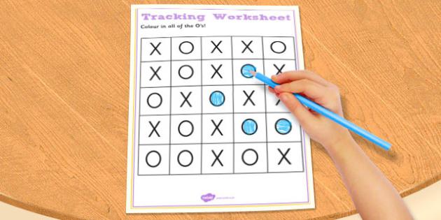 Visual Perception Tracking Worksheet - tracking, sheet, visual