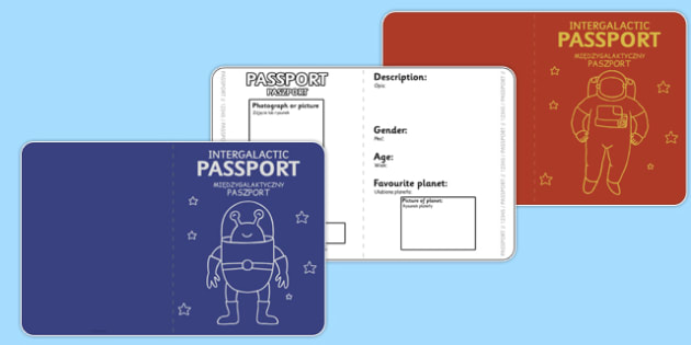 Space Passports Polish Translation - polish, space, passports, travel, rockets, language