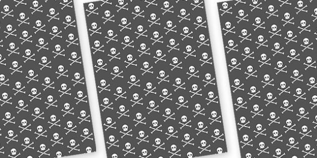 Pirate Skull and Cross Bones A4 Sheet - pirates, skull and cross bones, skull and cross bones sheets, skull and cross bones display image sheets, display