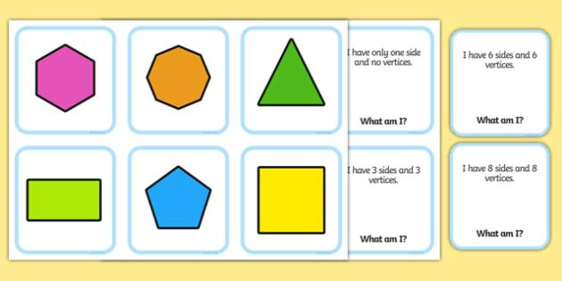 Shape Matching Cards - 2d, shape, matching, cards, match