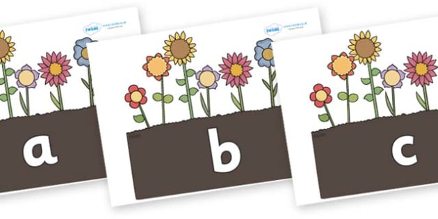 Phase 2 Phonemes on Garden Flowers - Phonemes, phoneme, Phase 2, Phase two, Foundation, Literacy, Letters and Sounds, DfES, display