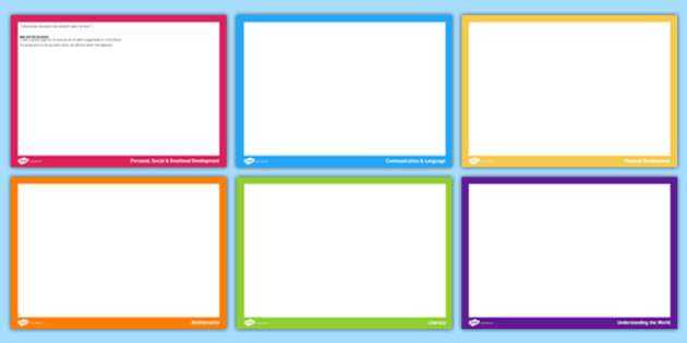 EYFS Learning Record Pages - eyfs, learning, record pages, record