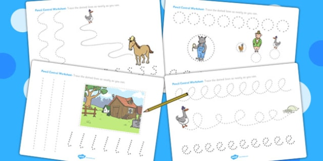 Pencil Control Sheets to Support Teaching on What's The Time, Mr Wolf? - Motor, Skills
