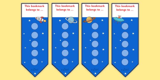 Space Small Sticker Reward Bookmarks - Space Small Sticker Reward Bookmarks, sticker, stickers, bookmark, reward bookmarks, reward, award, space, pace themed, large, large stickers, rewards, Bookmark, bookmark template,  gift,  present, book, reward,