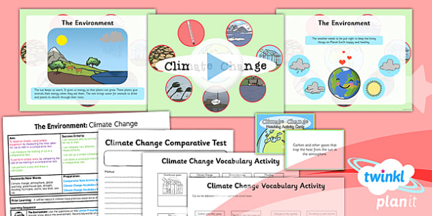 Science: The Environment: Climate Change Year 2 Lesson Pack 1
