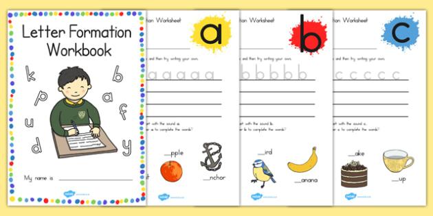 Letter Formation Workbook - australia, letter formation, workbook