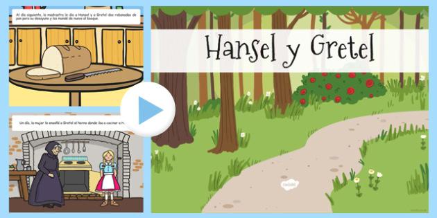 Hansel y Gretel Story PowerPoint Spanish - spanish, hansel and gretel, story, powerpoint