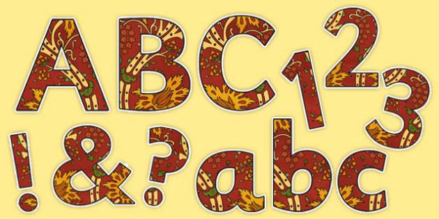 Islamic Art Display Lettering Pack - islamic art, display lettering, display, lettering, letters, pack