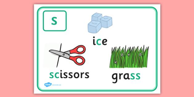 Alternative Spellings for s Display Poster - alternative spellings for s, display poster, s display poster, alternative spelling for s poster
