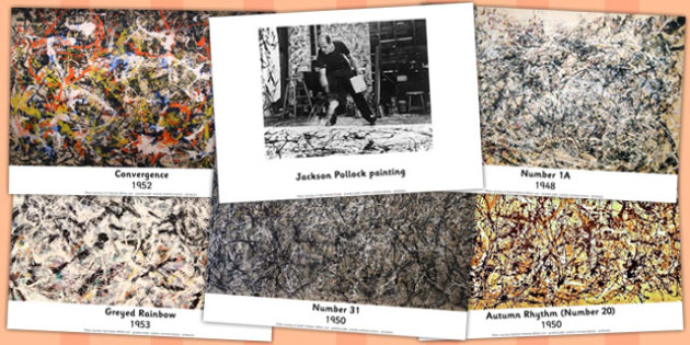Jackson Pollock Photo Pack - photo pack, jackson, pollock, pack