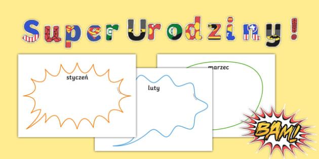 Zestaw Super Urodziny do edytowania po polsku