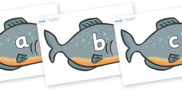 Phase 2 Phonemes on Piranhas - Phonemes, phoneme, Phase 2, Phase two, Foundation, Literacy, Letters and Sounds, DfES, display