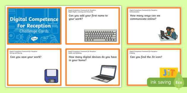 Digital Competence for Reception Challenge Cards-Welsh