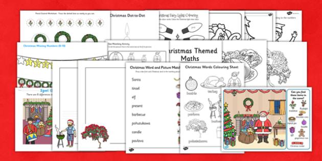 Christmas Activity Book NZ - nz, new zealand, christmas, activity, book