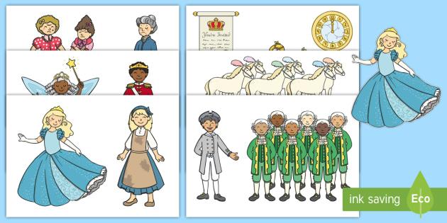 Cinderella Story Cut Outs - cinderella, story, cut outs, display