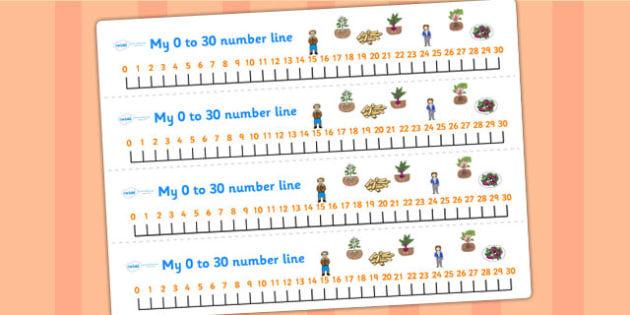 Oliver's Vegetables Number Lines 0 30 - stories, counting, maths