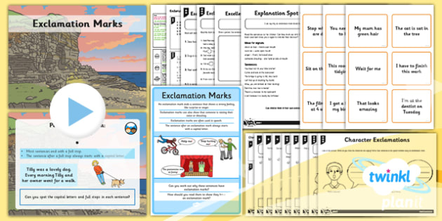 PlanIt Y1 SPaG Lesson Pack: Exclamation Marks - GPS, punctuation, sentence