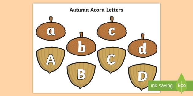 Autumn Acorn Letters Matching Cards - Autumn Acorn Number Bonds to 20 - number bonds, autumn, autumn number bonds, acorn, acorn number bon