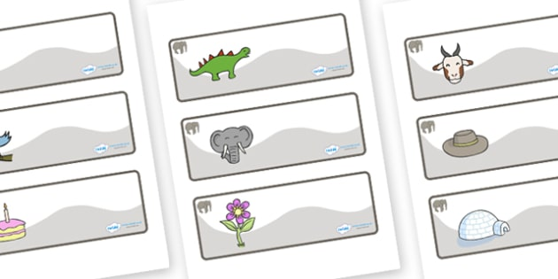 Elephant Themed Editable Drawer-Peg-Name Labels - Themed Classroom Label Templates, Resource Labels, Name Labels, Editable Labels, Drawer Labels, Coat Peg Labels, Peg Label, KS1 Labels, Foundation Labels, Foundation Stage Labels, Teaching Labels