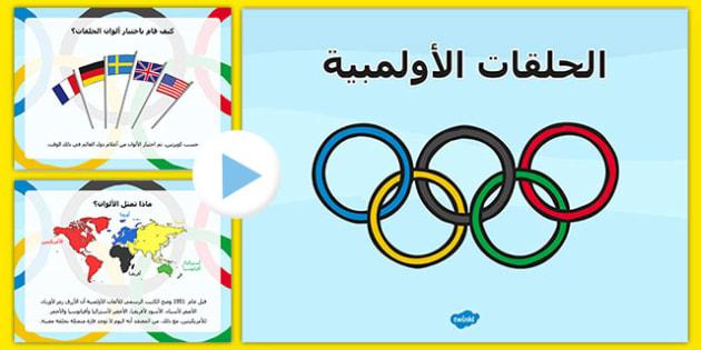باوربوينت تاريخ حلقات الشعار الأولمبي