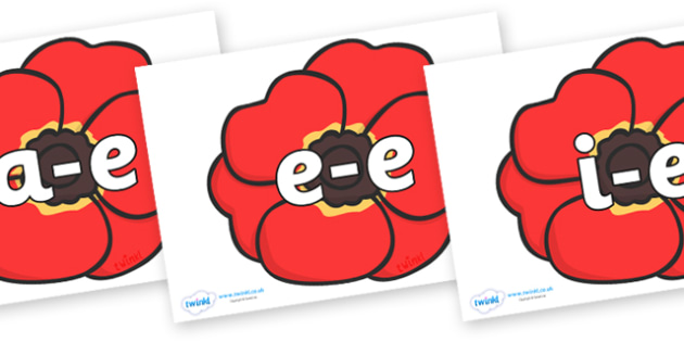Modifying E Letters on Poppies - Modifying E, letters, modify, Phase 5, Phase five, alternative spellings for phonemes, DfES letters and Sounds
