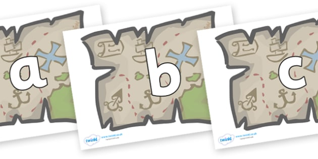 Phoneme Set on Treasure Maps - Phoneme set, phonemes, phoneme, Letters and Sounds, DfES, display, Phase 1, Phase 2, Phase 3, Phase 5, Foundation, Literacy