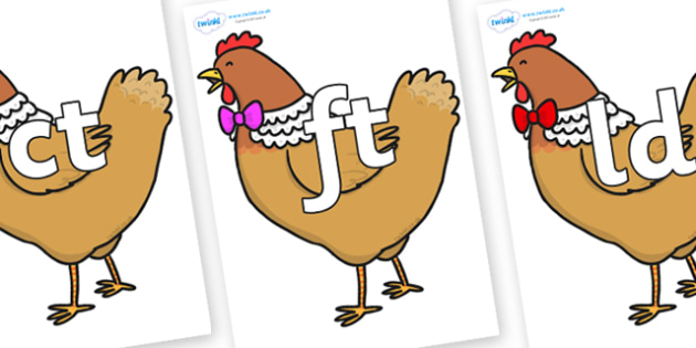 Final Letter Blends on Henny Penny - Final Letters, final letter, letter blend, letter blends, consonant, consonants, digraph, trigraph, literacy, alphabet, letters, foundation stage literacy