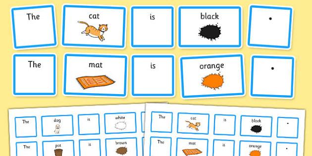 EAL Sentence Builder Cards - eal, sentence, builder cards, cards