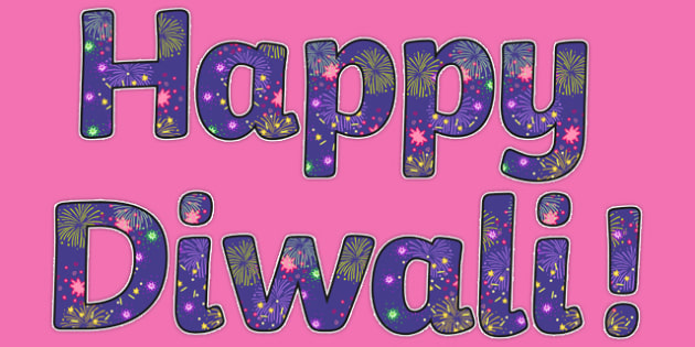 Diwali Firework Display Lettering