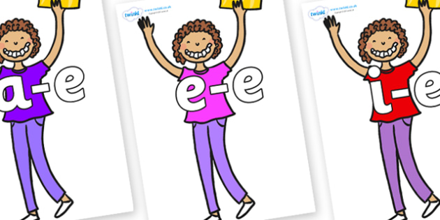 Modifying E Letters on Violet Beauregarde - Modifying E, letters, modify, Phase 5, Phase five, alternative spellings for phonemes, DfES letters and Sounds