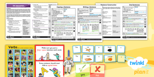 PlanIt EAL Intervention Basic Skills 5 Sentence Construction Pack