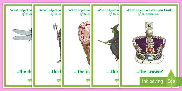 Adjective Description Prompt Posters - australia, adjective