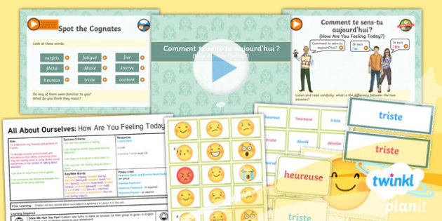 French: All About Ourselves: How Are You Feeling Today? Year 5 Lesson Pack 5