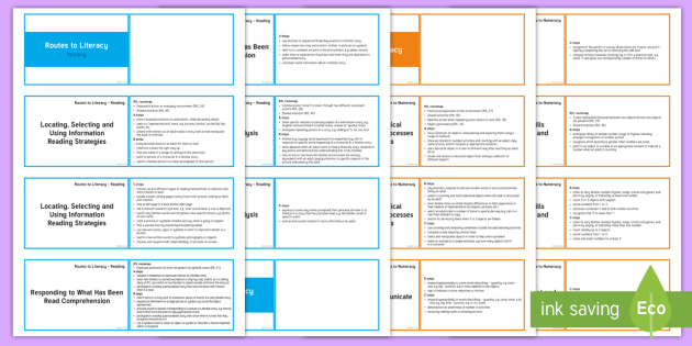 Lanyard-Sized Routes to Literacy and Numeracy - observation, routes for learning, routes to literacy, routes to numeracy,assessment, wales, Curricul
