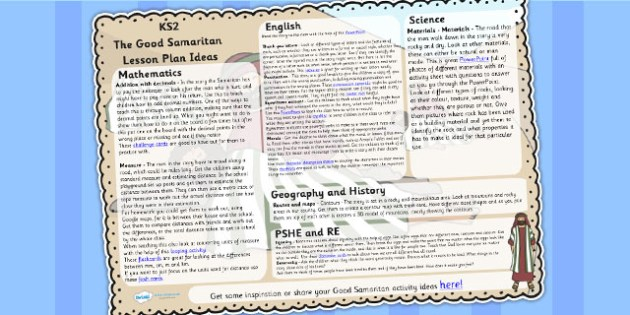 The Good Samaritan Lesson Plan Ideas KS2 - good samaritan, KS2