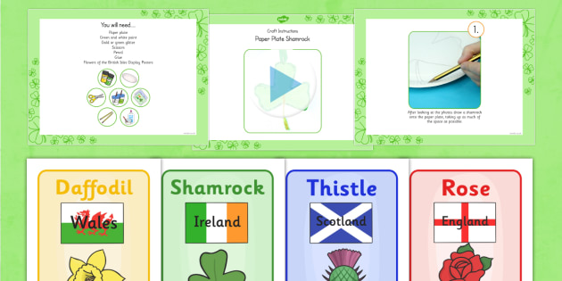 Paper Plate Shamrock Craft Instructions PowerPoint - craft, paper plate, shamrock, instructions, powerpoint