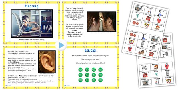 KS1 Science Senses Hearing PowerPoint Pack - ks1 science, listen