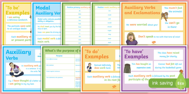Auxiliary Verbs Display Pack